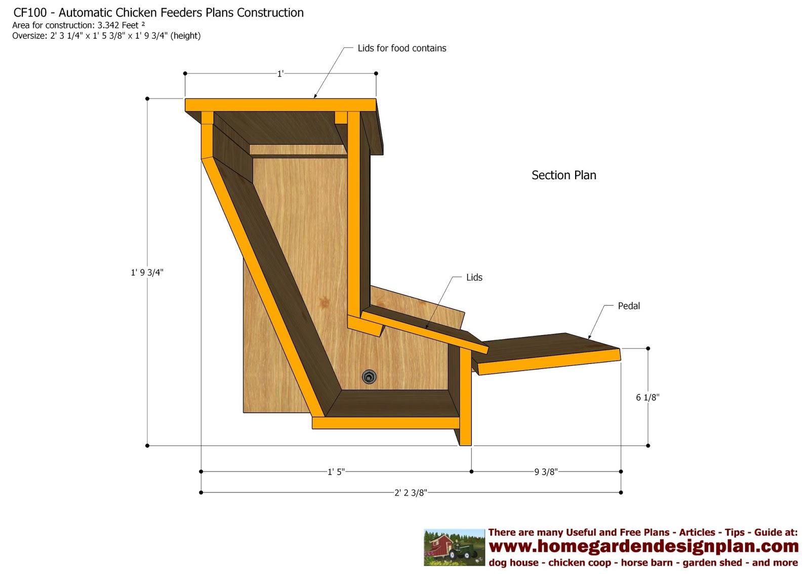 Home Garden Plans Cf100 Automatic Chicken Feeder Plans