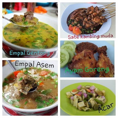 Menu khas kuliner Cirebon di rm AMARTA  ,Empal Gentong Empal Asem Sate Kambing muda alt