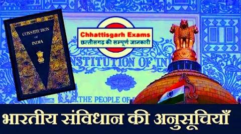 भारतीय संविधान की अनुसूचियाँ