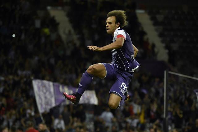 L'attaquant de Toulouse Braithwaite a inscrit un doublé contre Monaco