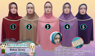 Jilbab instan terbaru tahun 2016 model renda leher