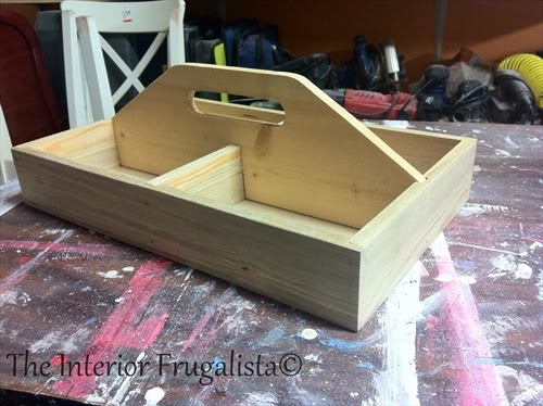 Hot Beverage Caddy {from wood tool caddy}