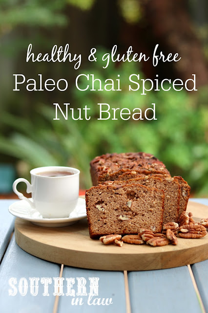 Paleo Chai Spiced Nut Bread – gluten free, grain free, dairy free, clean eating friendly, sugar free
