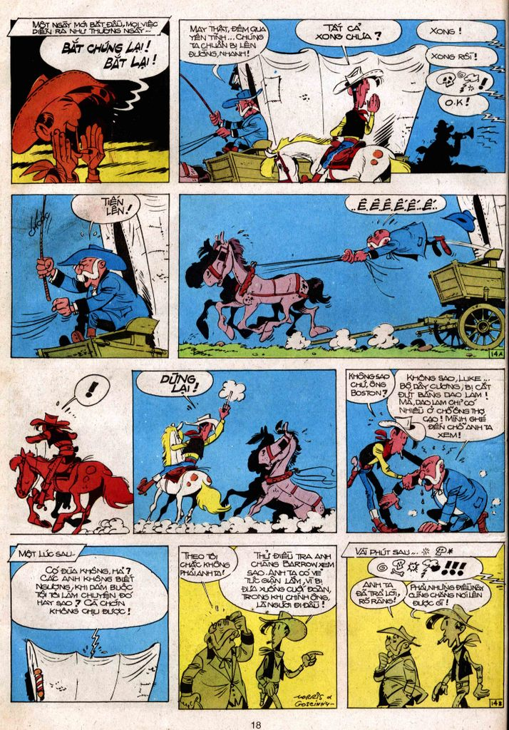 Lucky Luke tap 3 - doan lu hanh trang 14
