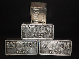 Pure indium bars for investiments