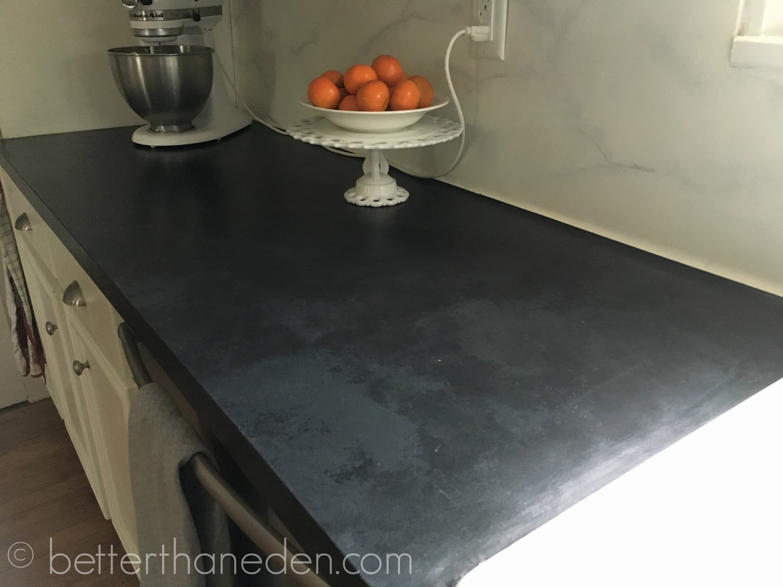 Black Faux Granite Countertops A Faux Soapstone Painted Countertop Mary Haseltine