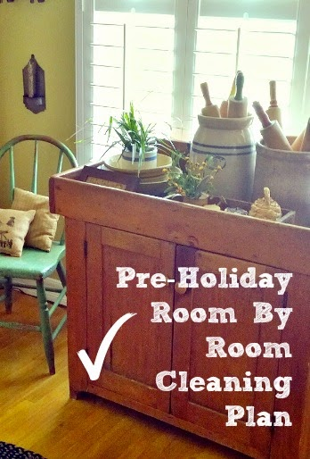 checklist and plan to clean your home before the holidays