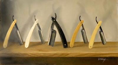 Vintage straight razors, shaving razor