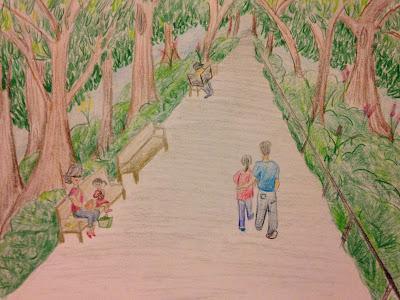 momdaughter art drawing hongkong sketch