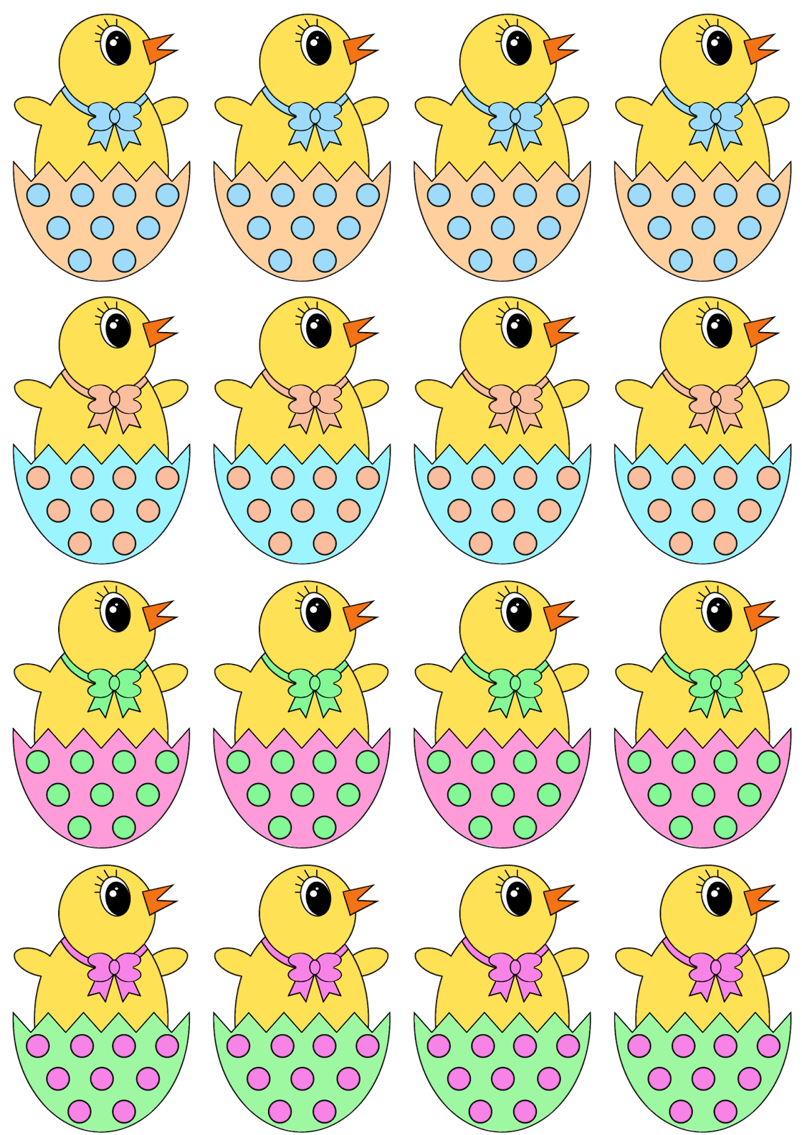 Bright image intended for easter eggs printable