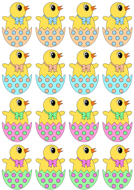 free easter egg hunt printable easter chick