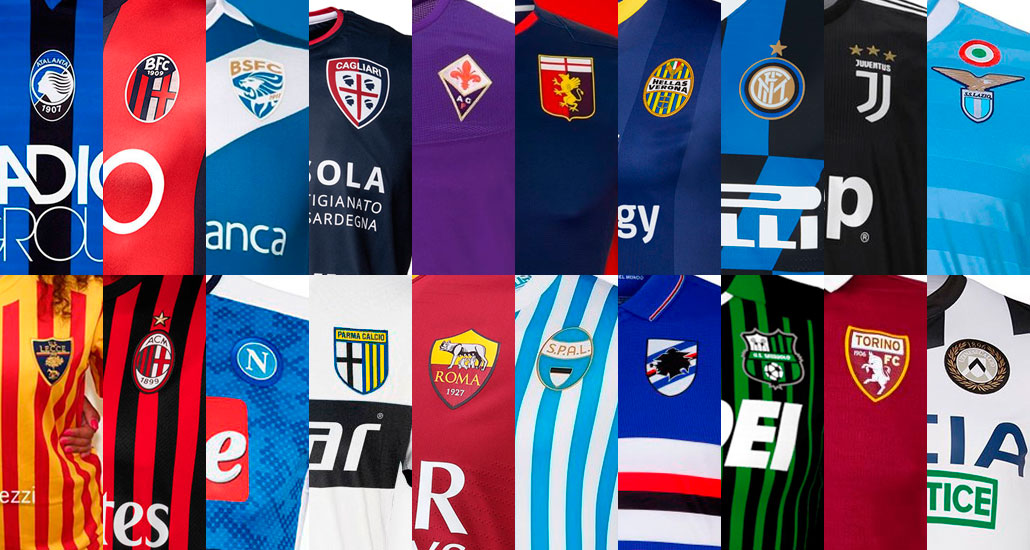 reputable site 94464 686f0 All 19-20 Serie A Kits - 58 Home, Away & Third Jerseys ...