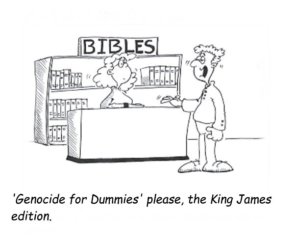 Caption Competition #43 - Funny Bible Cartoon Picture - Genocide for Dummies
