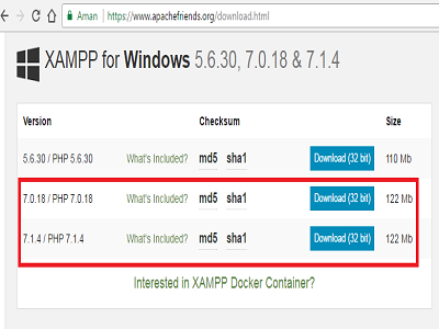 Download Aplikasi XAMPP