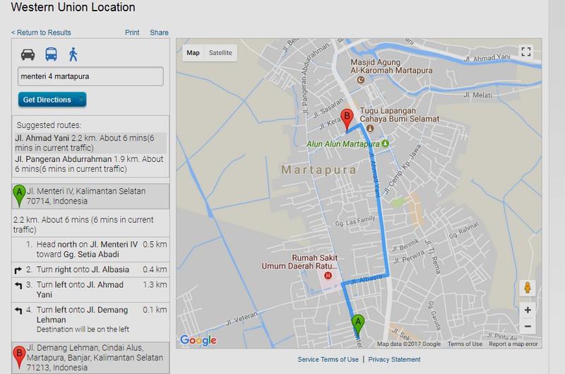 Map Petunjuk Arah