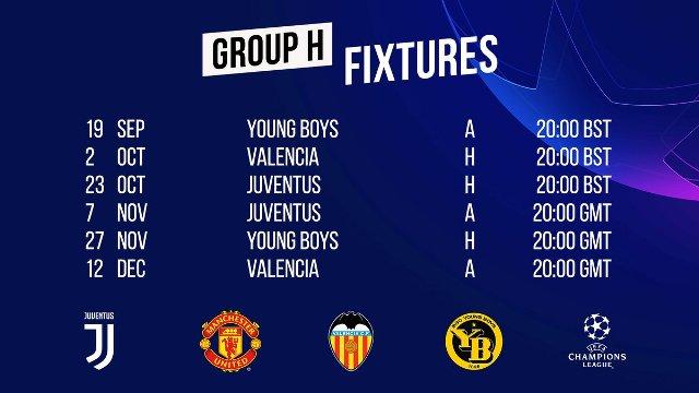 Jadwal Manchester United di Liga Champions 2018/2019 Lawan Juventus, Valencia, Young Boys
