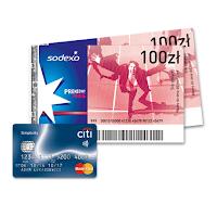 bony sodexo 200 zł prezent do karty kredytowej Citi Simlicity Groupon Citibank