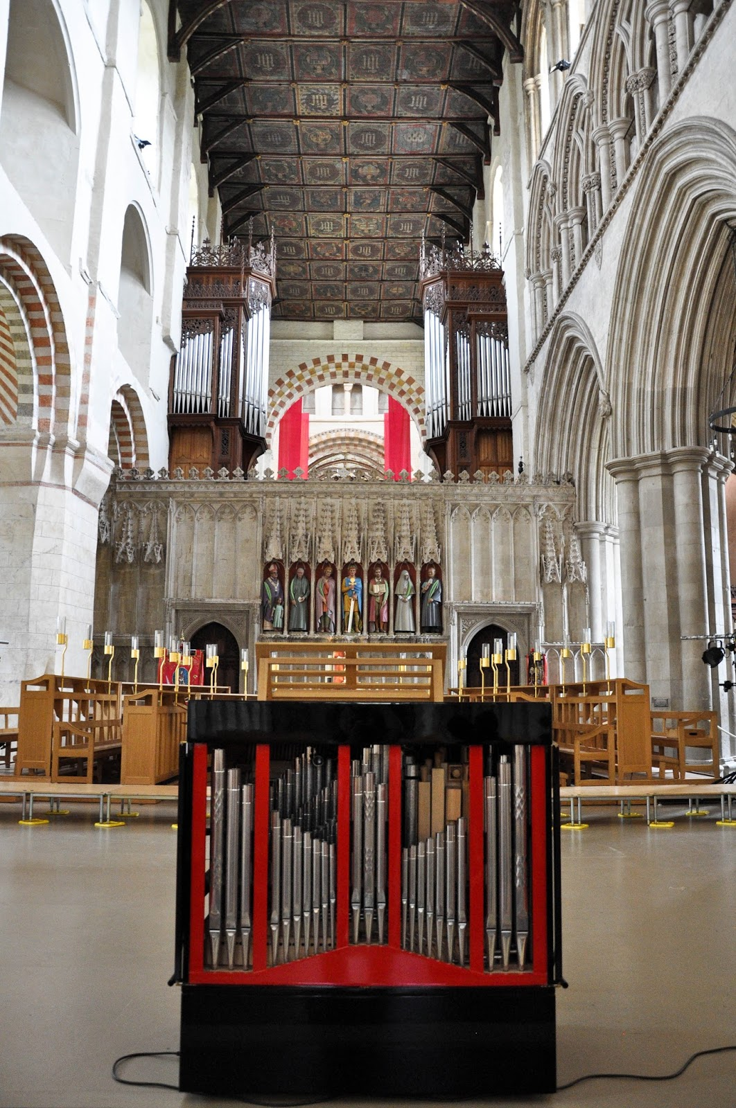 The altar, St. Albans Cathedral, St. Albans, Herts, England