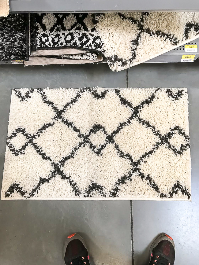 Diamond shag rug from Walmart