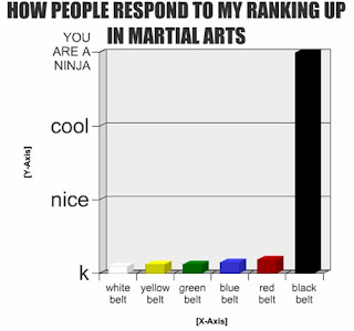 chart how people respond to my ranking up in martial arts you are a ninja, martial arts ninja, funny charts ninja