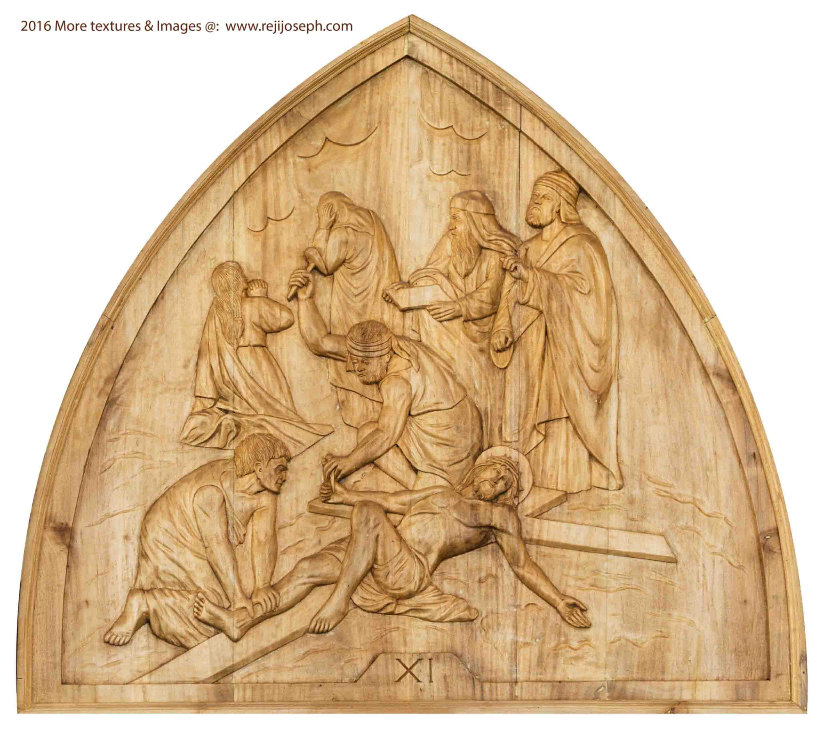 Way of the cross wooden relief 011