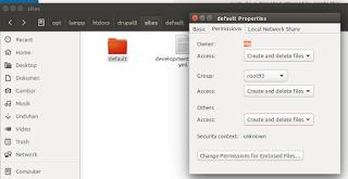 merubah hak akses folder dxrupal 8 di linux