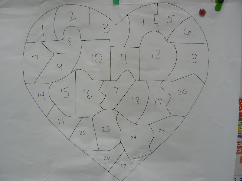 Mrs. T's First Grade Class: Valentine's Day Puzzle and Poem