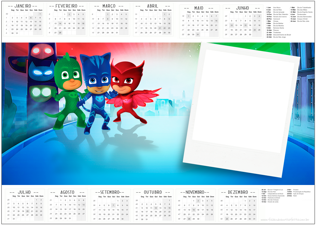 PJ Masks: Free Party Printables. | Oh My Fiesta! in english