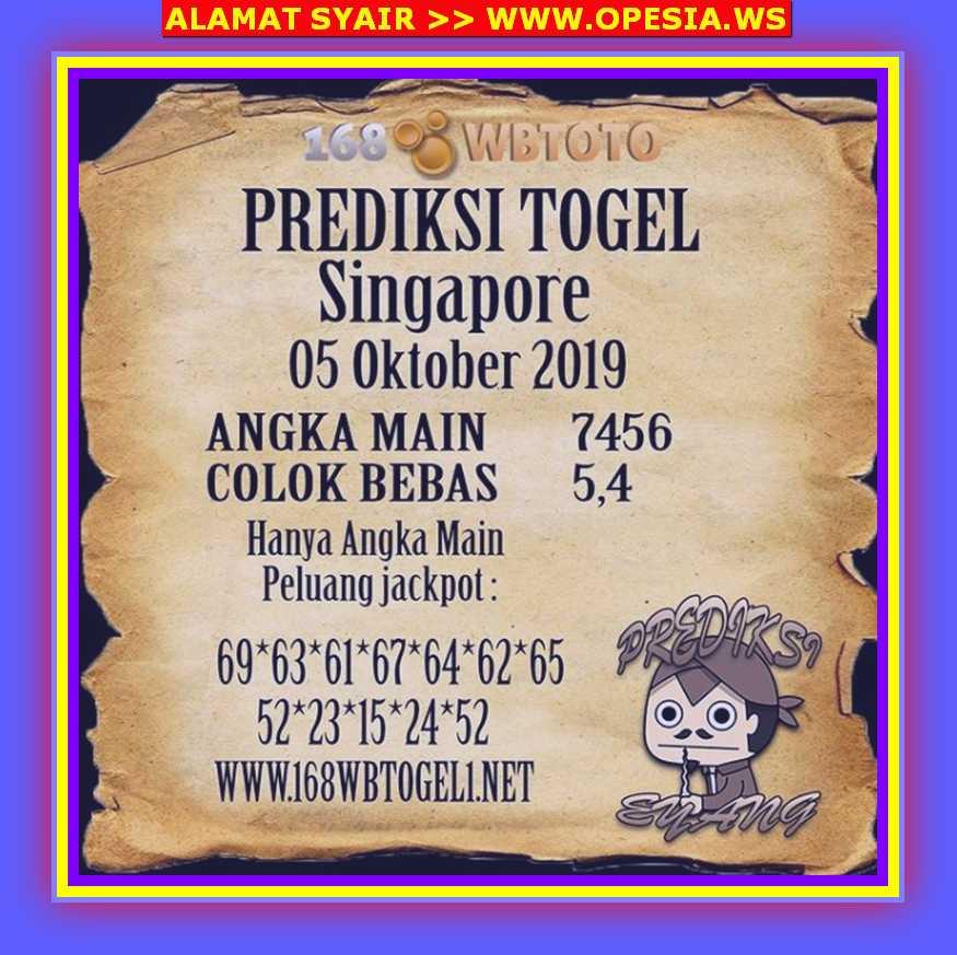 Kode syair Singapore Sabtu 5 Oktober 2019 47