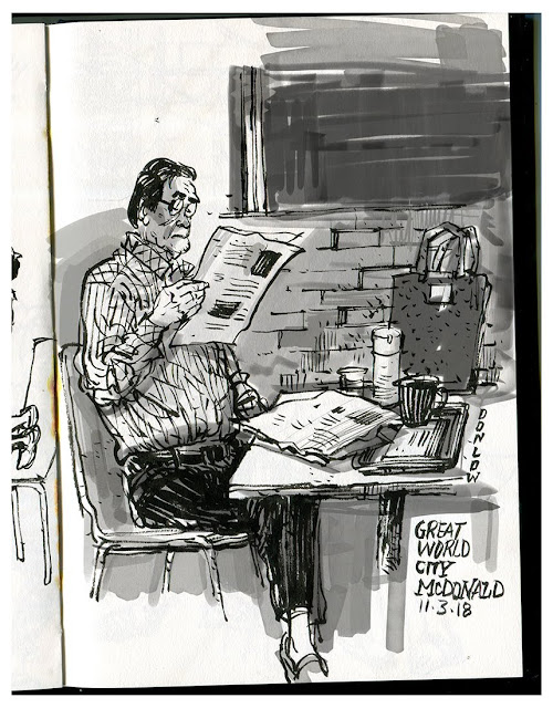 Urbansketchers | Sketching & Drawing People at Cafes & on public transport