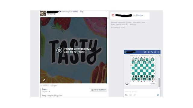 Cara Membuka Dan Bermain Game Catur Pada Facebook Messanger