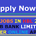 NEW JOBS IN HBL 2019 HABIB BANK LIMITED CAREER ONLINE APPLY