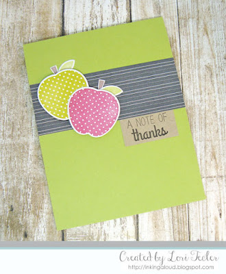 A Note of Thanks card-designed by Lori Tecler/Inking Aloud-stamps and dies from Reverse Confetti