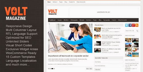 volt wordpress theme