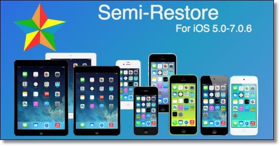SemiRestore7 for iOS 7