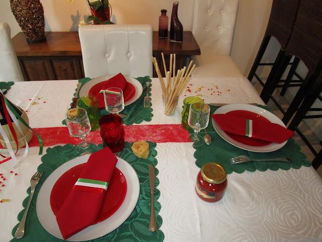 Decoration Italienne Table : Un petit air d italie déco de table à thèmes