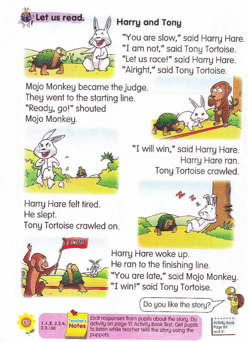 The rabbit and the turtle story moral lesson