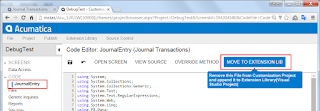 Acumatica Move Code to Extension Library