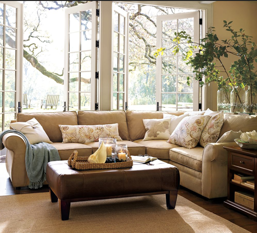 Pottery Barn Pearce Sectional: Honey We're Home: Our Living Room Sectional (Pottery Barn