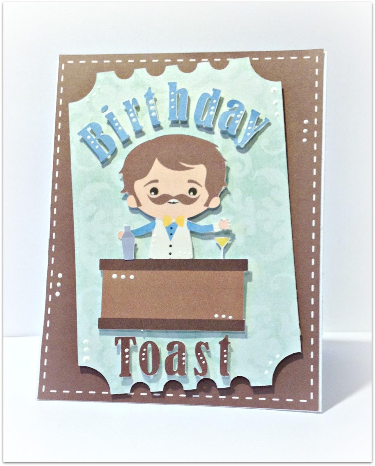 pretty paper pretty ribbons birthday toast card