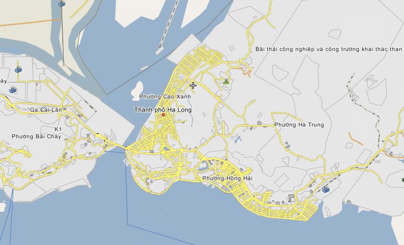 Bản đồ khu đô thị Cao Xanh, Hạ Long