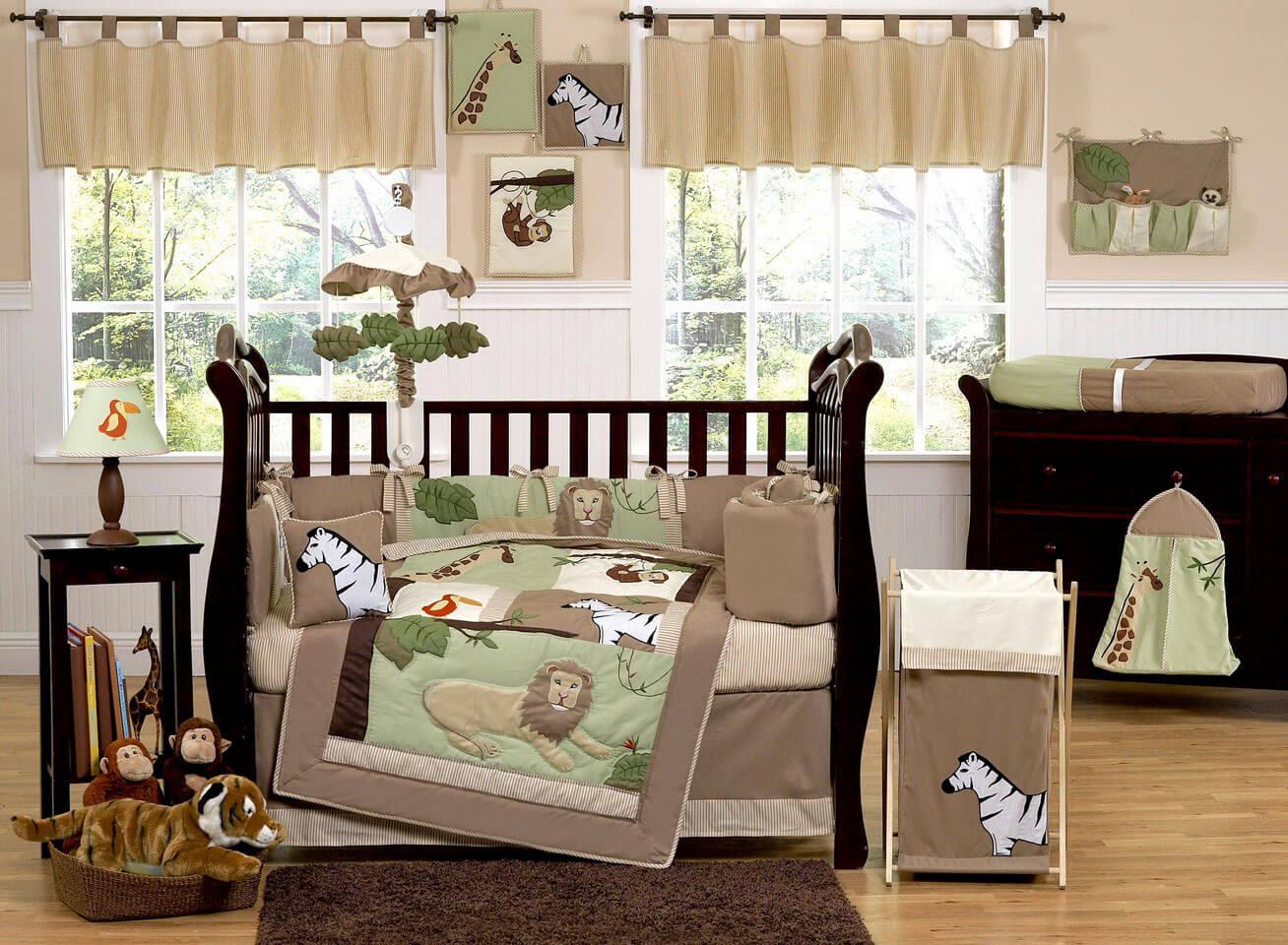 jungle baby girl nursery bedroom furniture sets themes