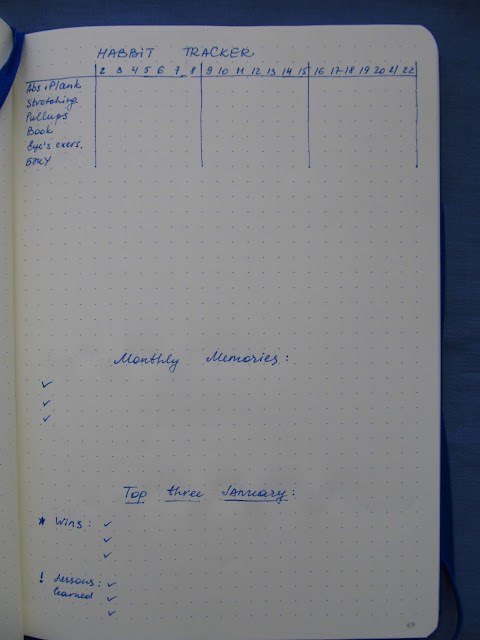 Habbits tracker and monthly memories in my Bullet Journal
