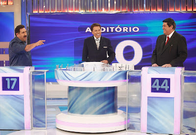 Ratinho, Silvio e Datena (Crédito: Roberto Nemanis/SBT)