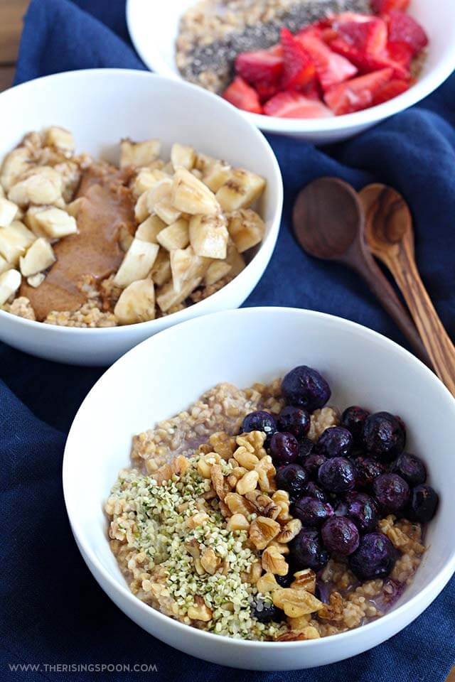 Overnight Steel Cut Oats with Oatmeal Toppings