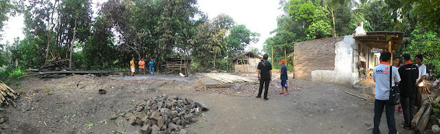 Kondisi ketiga rumah yang ludes terbakar
