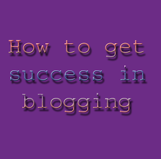 success in blogger blog