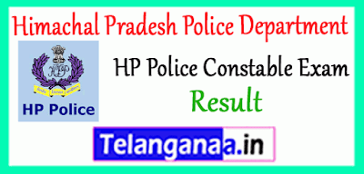 Himachal Pradesh Police Constable Results merit list