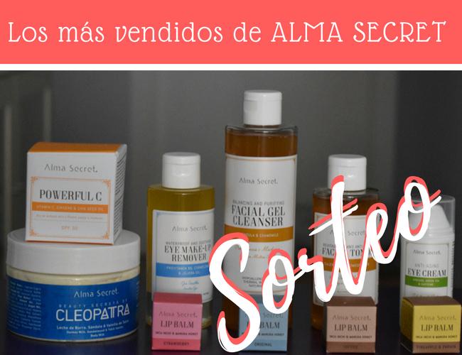Sorteo - los 10 productos más vendidos de Alma Secret