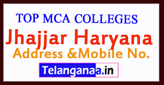 Top MCA Colleges in Jhajjar Haryana